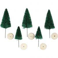 Grantræer, H: 40+60 mm, grøn, 5 stk./ 1 pk.