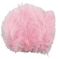 Dun, str. 5-12 cm, lyserød, 15 stk./ 1 pk.