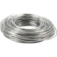 Bonzaitråd, rund, tykkelse 2,5 mm, sølv, 75 m/ 1 rl.