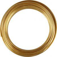 Bonzaitråd, rund, tykkelse 3 mm, guld, 29 m/ 1 rl.