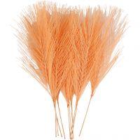 Kunstige fjer, L: 15 cm, B: 8 cm, orange, 10 stk./ 1 pk.