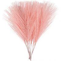 Kunstige fjer, L: 15 cm, B: 8 cm, lyserød, 10 stk./ 1 pk.