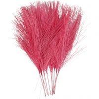 Kunstige fjer, L: 15 cm, B: 8 cm, pink, 10 stk./ 1 pk.