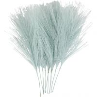 Kunstige fjer, L: 15 cm, B: 8 cm, lyseblå, 10 stk./ 1 pk.