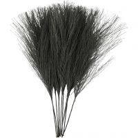 Kunstige fjer, L: 15 cm, B: 8 cm, sort, 10 stk./ 1 pk.