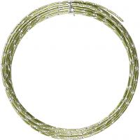 Bonzaitråd, diamond-cut, tykkelse 2 mm, grøn, 7 m/ 1 rl.