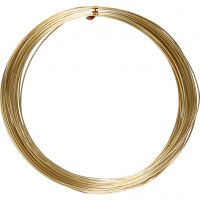 Bonzaitråd, rund, tykkelse 1 mm, guld, 16 m/ 1 rl.