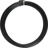 Bonzaitråd, rund, tykkelse 2 mm, sort, 10 m/ 1 rl.