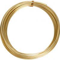 Bonzaitråd, rund, tykkelse 2 mm, guld, 10 m/ 1 rl.