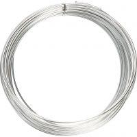 Bonzaitråd, rund, tykkelse 2 mm, sølv, 10 m/ 1 rl.