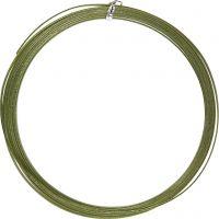 Bonzaitråd, flad, B: 3,5 mm, tykkelse 0,5 mm, grøn, 4,5 m/ 1 rl.