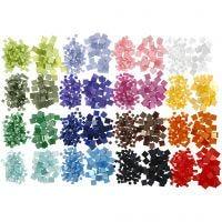 Minimosaik, str. 5x5+10x10 mm, tykkelse 2 mm, 32x25 g/ 1 pk.