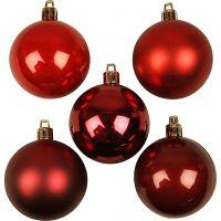 Julekugler, diam. 6 cm, rød harmoni, 20 stk./ 1 pk.