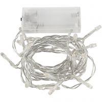 LED Lyskæde, L: 3,15 m, transparent, 1 stk.