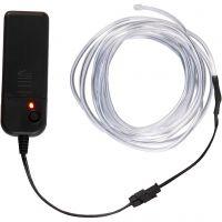 LED lysledning, L: 3 m, neon blå, hvid, 1 stk.