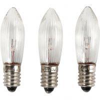 LED-pærer, H: 45 mm, diam. 15 mm, 3 stk./ 1 pk.