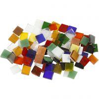 Glasmosaik, str. 10x10 mm, tykkelse 3 mm, 454 g/ 1 pk.