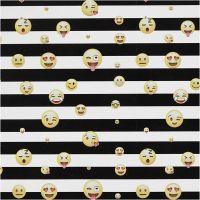Gavepapir smiley, str. 35 cm, 100 m/ 1 rl.