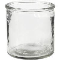 Lysglas, H: 7,8 cm, 6 stk./ 1 ks.