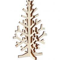 3D Juletræ, H: 12 cm, B: 7,5 cm, 1 stk.