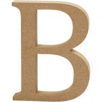 Bogstav, B, H: 13 cm, tykkelse 2 cm, 1 stk.