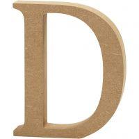 Bogstav, D, H: 13 cm, tykkelse 2 cm, 1 stk.