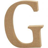 Bogstav, G, H: 13 cm, tykkelse 2 cm, 1 stk.