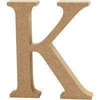 Bogstav, K, H: 13 cm, tykkelse 2 cm, 1 stk.