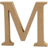 Bogstav, M, H: 13 cm, tykkelse 2 cm, 1 stk.