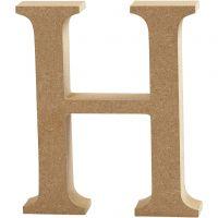 Bogstav, H, H: 8 cm, tykkelse 1,5 cm, 1 stk.