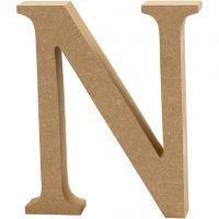 Bogstav, N, H: 8 cm, tykkelse 1,5 cm, 1 stk.