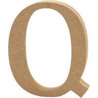 Bogstav, Q, H: 8 cm, tykkelse 1,5 cm, 1 stk.