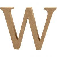 Bogstav, W, H: 8 cm, tykkelse 1,5 cm, 1 stk.