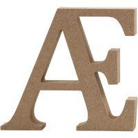 Bogstav, Æ, H: 8 cm, tykkelse 1,5 cm, 1 stk.