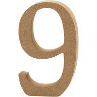 Tal, 9, H: 8 cm, tykkelse 1,5 cm, 1 stk.