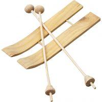 Ski med stave, str. 11x3,8 cm, 3 par/ 1 pk.