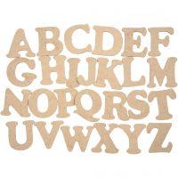 Bogstaver, A-Z, H: 4 cm, tykkelse 2,5 mm, 26 stk./ 1 pk.