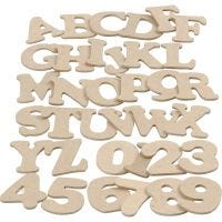 Bogstaver og tal, H: 4 cm, tykkelse 2,5 mm, 36x10 pk./ 1 pk.