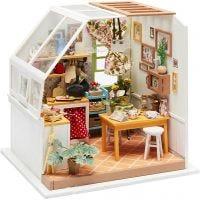 Miniaturerum, Køkken, H: 18,7 cm, B: 19 cm, 1 stk.