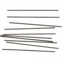 Metalstang, L: 10 cm, diam. 2 mm, 10 stk./ 1 pk.