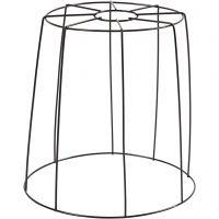 Lampeskærm, H: 20 cm, diam. 15,5-20 cm, sort, 1 stk.