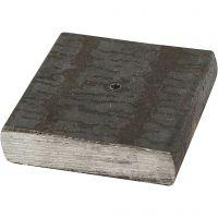 Metalfod, str. 4x4x1 cm, hulstr. 2 mm, 1 stk.