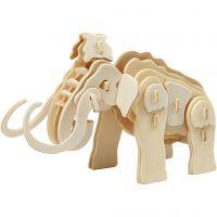 3D konstruktionsfigur, mammut, str. 19x8,5x11 cm, 1 stk.