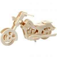 3D konstruktionsfigur, motorcykel, str. 19x9x9 cm, 1 stk.