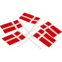 Lagkageflag, str. 30x50 mm, 100 stk./ 1 pk.