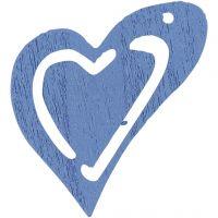 Asymmetrisk hjerte, str. 25x22 mm, lyseblå, 20 stk./ 1 pk.