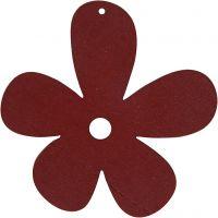 Blomst, str. 57x51 mm, tykkelse 2 mm, vinrød, 10 stk./ 1 pk.