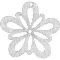 Blomst, diam. 27 mm, tykkelse 1,7 mm, hvid, 20 stk./ 1 pk.