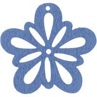 Blomst, diam. 27 mm, tykkelse 1,7 mm, lyseblå, 20 stk./ 1 pk.