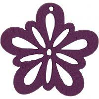 Blomst, diam. 27 mm, mørk lilla, 20 stk./ 1 pk.